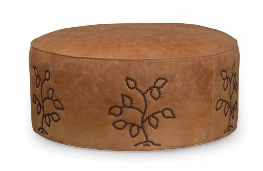"Picture of AMY 42"" ROUND OTTOMAN"