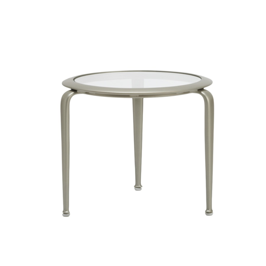 "Picture of 21"" ROUND STACKING OCCASIONAL TABLE, GLASS TOP"