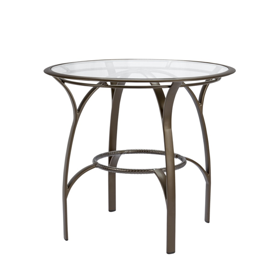 "Picture of 42"" ROUND BAR TABLE, GLASS TOP"