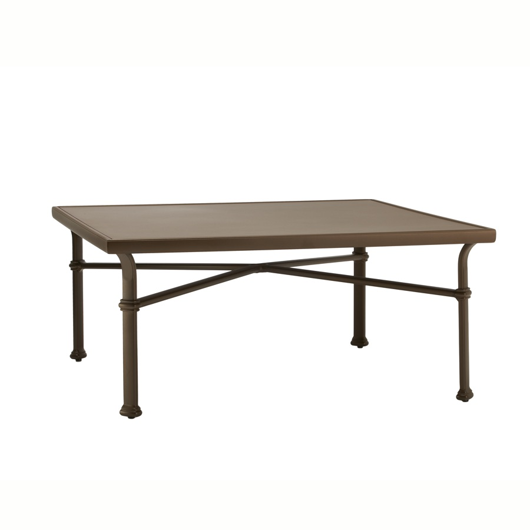 "Picture of 44"" SQUARE CHAT TABLE, SOLID ALUMINUM TOP"