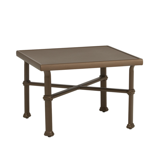 "Picture of 26"" SQUARE OCCASIONAL TABLE, SOLID ALUMINUM TOP"