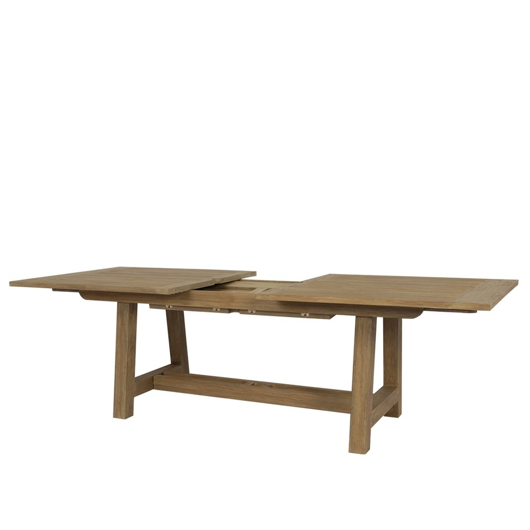 "Picture of COASTAL TEAK 79""-118"" DINING TABLE WITH LEAF EXTENSION"