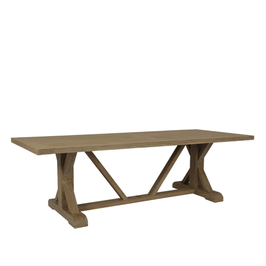 "Picture of COASTAL TEAK 94"" TRESTLE DINING TABLE"