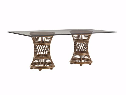 Picture of ARUBA DINING TABLE WITH 84 X 48 INCH GLASS TOP