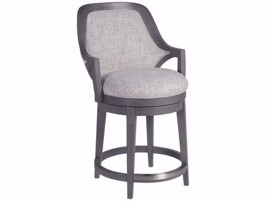 Picture of APPELLATION UPHOLSTERED SWIVEL COUNTER STOOL