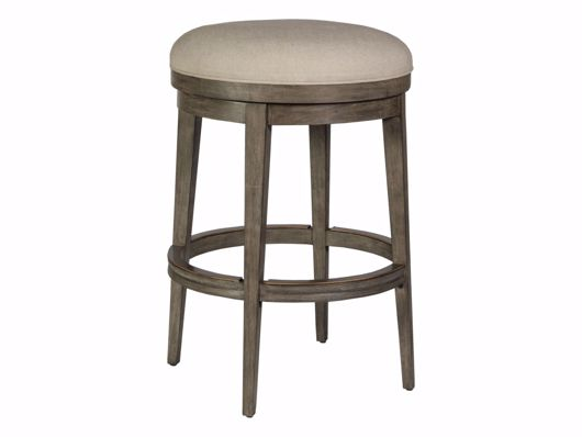 Picture of CECILE BACKLESS SWIVEL BARSTOOL